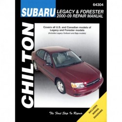 Subaru Legacy & Forester Chilton Repair Manual for 2000-09 (Does not include information specific to six-cylinder a