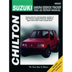 Suzuki Samurai Sidekick & Tracker Chilton Repair Manual covering all models of Geo Tracker Suzuki Samurai Sidekick