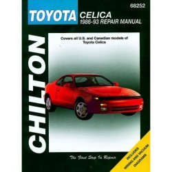 Toyota Celica Chilton Repair Manual covering all models for 1986-93