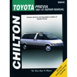 Toyota Previa Chilton Repair Manual covering all models for 1991-97