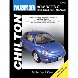 Volkswagen New Beetle Chilton Repair Manual for 1998-10 covering convertible models 1.8L 2.0L and 2.5L gasoline eng