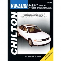 Volkswagen Passat (1998-05) and Audi A4 (1996-01) Chilton Repair Manual covering models with 1.8L four-cylinder tur