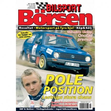 Bilsport Börsen nr 7  2005