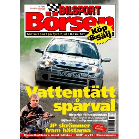 Bilsport Börsen nr 7  2003