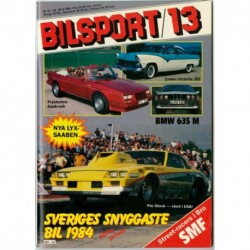 Bilsport nr 13  1984