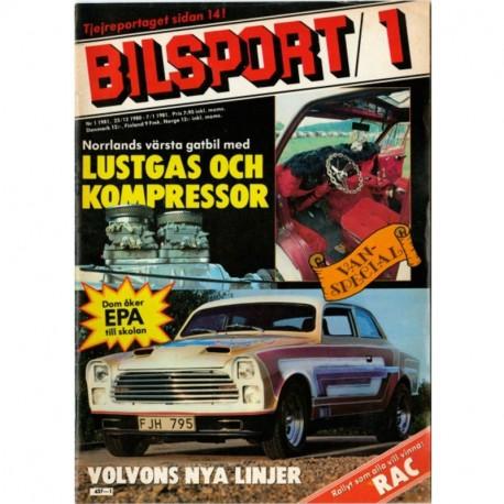 Bilsport nr 1  1981