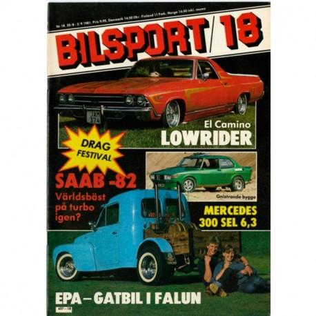 Bilsport nr 18  1981