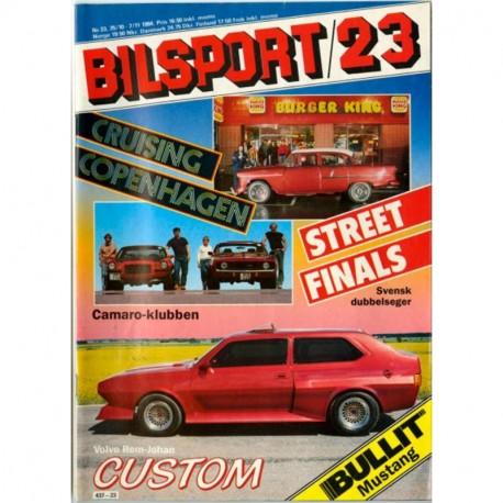 Bilsport nr 23  1984