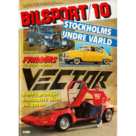 Bilsport nr 10  1984
