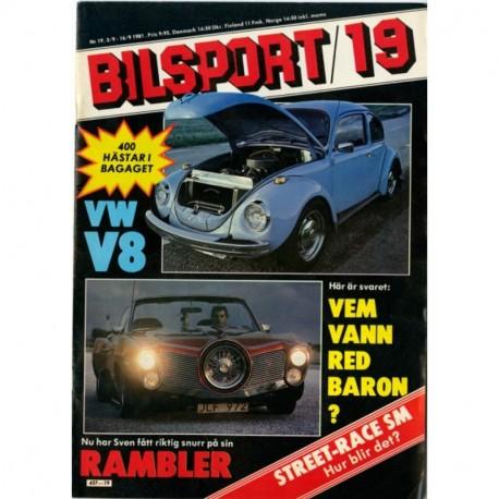 Bilsport nr 19  1981