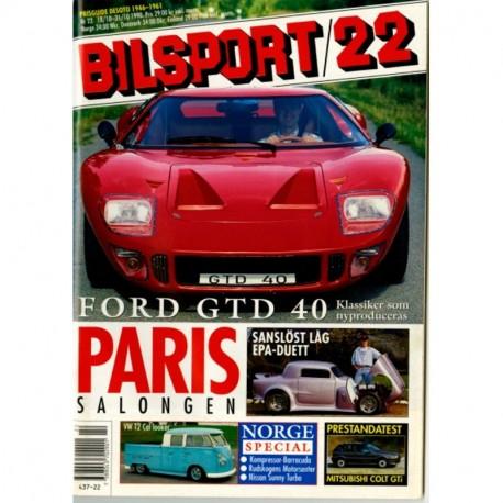 Bilsport nr 22  1990