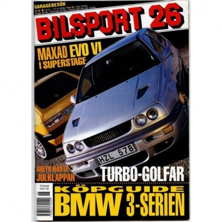Bilsport nr 26  2000