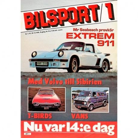 Bilsport nr 1  1979