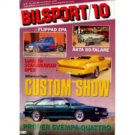 Bilsport nr 10  1987