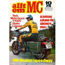 Allt om MC nr 10  1975
