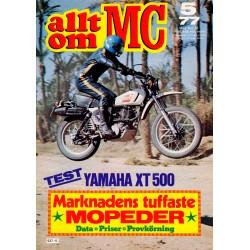 Allt om MC nr 5  1977